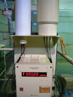 施設内にある空間線量測定器